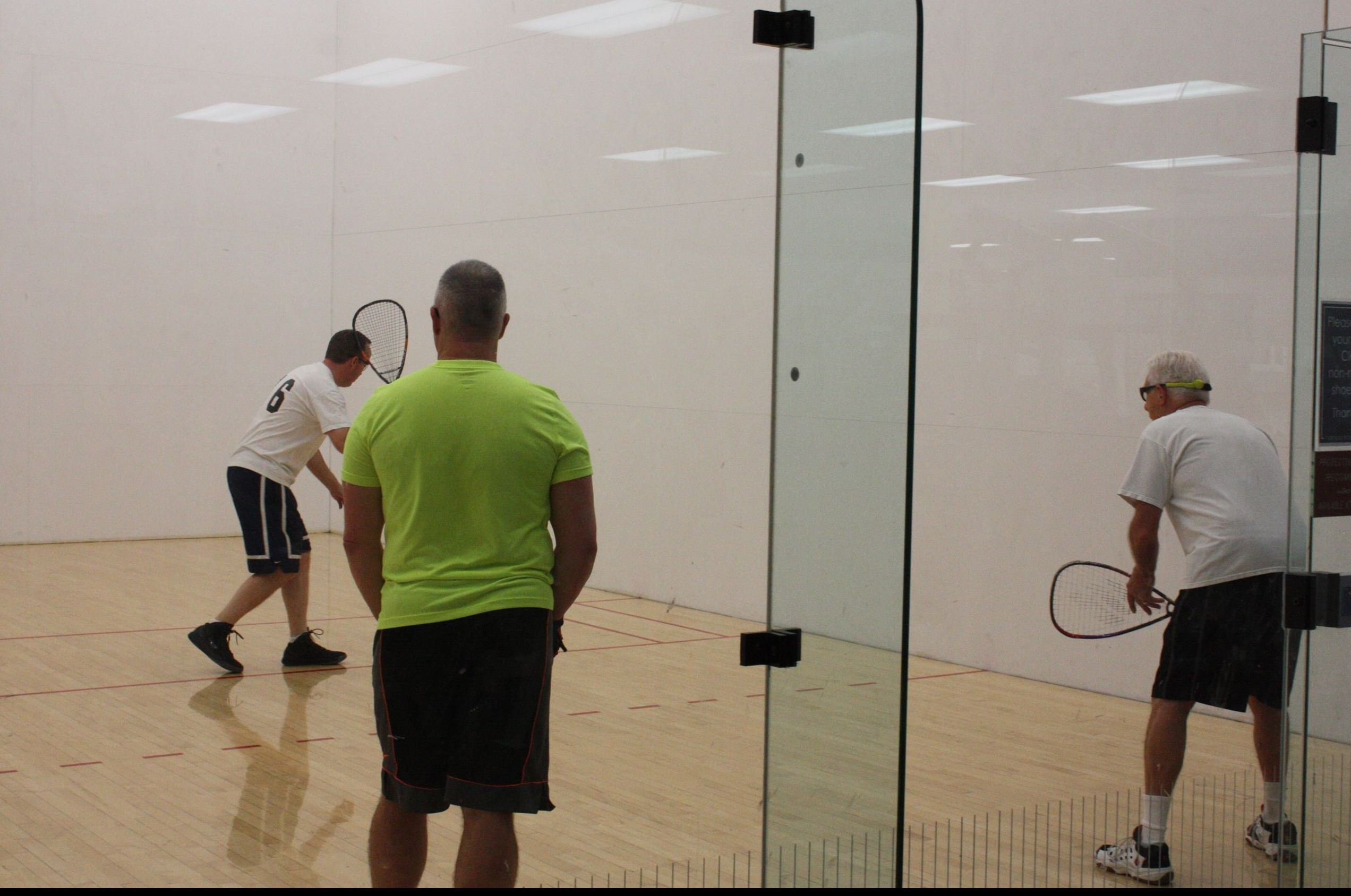 racquetball players